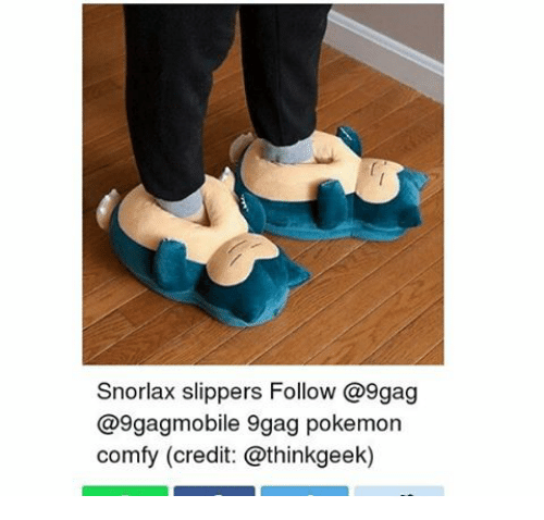 Snorlax Slippers Make Snoring Noises