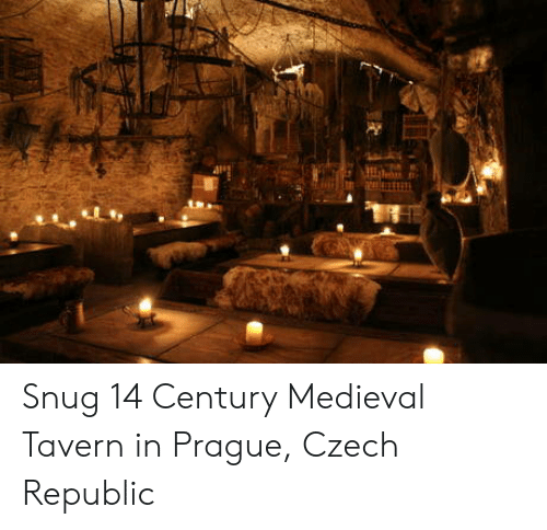 czech: Snug 14 Century Medieval Tavern in Prague, Czech Republic