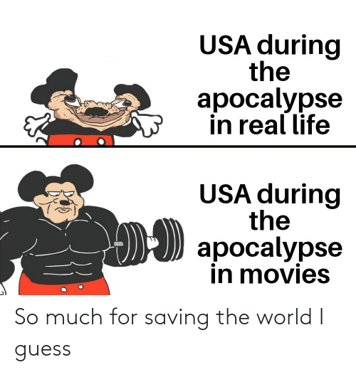 So Much For: So much for saving the world I guess