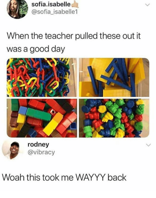 Funny, Teacher, and Good: sofia.isabelle  @sofia_isabelle1  When the teacher pulled these out it  was a good day  rodney  @vibracy  Woah this took me WAYYY back