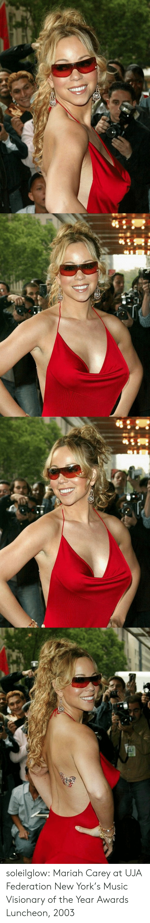 mariah carey: soleilglow: Mariah Carey at UJA Federation New York's Music Visionary of the Year Awards Luncheon, 2003