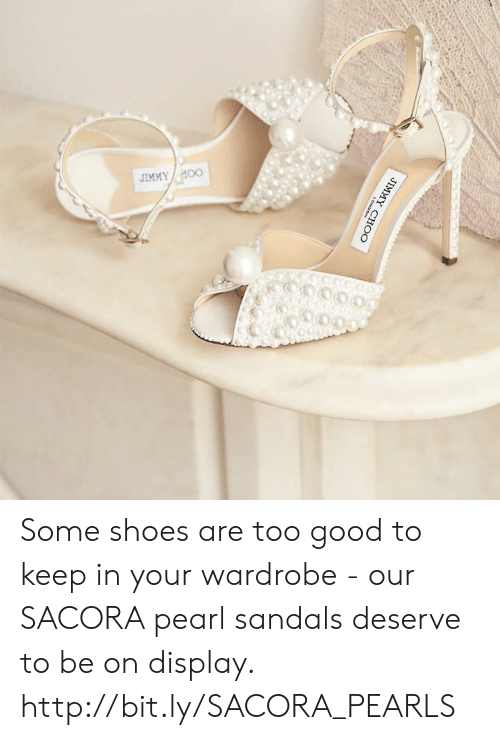 Keep In: Some shoes are too good to keep in your wardrobe - our SACORA pearl sandals deserve to be on display. http://bit.ly/SACORA_PEARLS