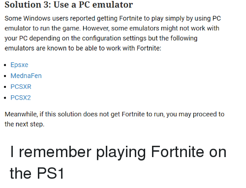 Some Windows Users Reported Getting Fortnite to Play Simply