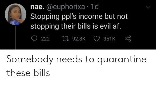 Bills: Somebody needs to quarantine these bills