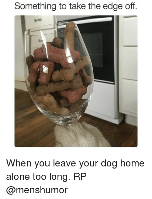 Edging: Something to take the edge off. When you leave your dog home alone too long. RP @menshumor