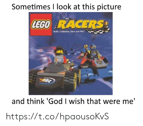 God, Lego, and Race: Sometimes I look at this picture  LEGO RACERS  Build Customize, Race and Win!  and think 'God I wish that were me' https://t.co/hpaousoKvS