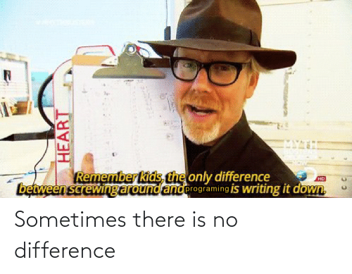 there: Sometimes there is no difference