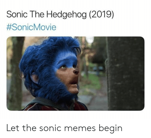 Hedgehog: Sonic The Hedgehog (2019)  Let the sonic memes begin