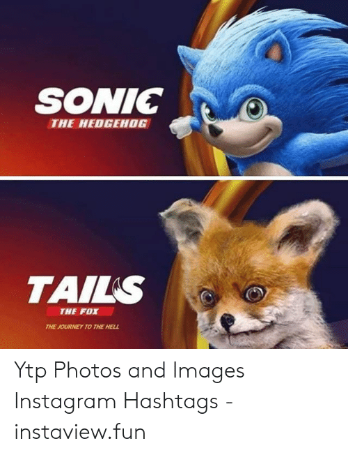Sonic The Hedgehog Tails The Fox The Journey To The Hell Ytp Photos And Images Instagram Hashtags Instaviewfun Instagram Meme On Awwmemes Com