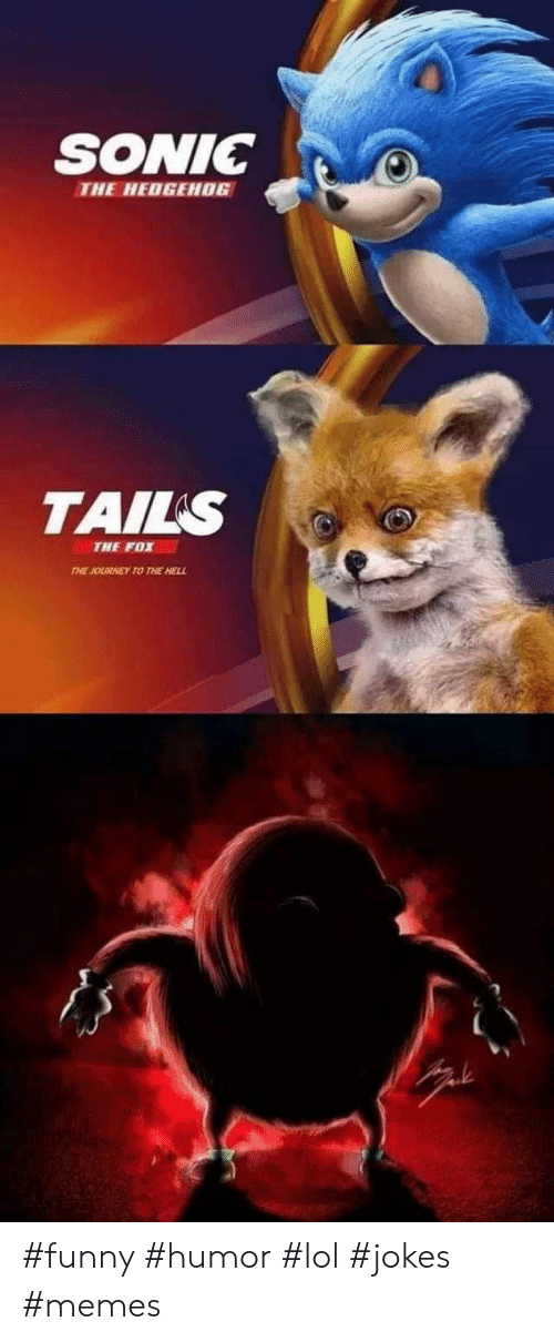 Sonic The Hedgehog Tails The Fox The Journey To The Hell Funny Humor Lol Jokes Memes Funny Meme On Awwmemes Com