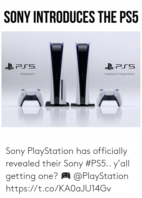 Getting: Sony PlayStation has officially revealed their Sony #PS5.. y'all getting one? 🎮 @PlayStation https://t.co/KA0aJU14Gv
