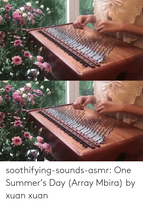 Asmr: soothifying-sounds-asmr: One Summer's Day (Array Mbira) by xuan xuan