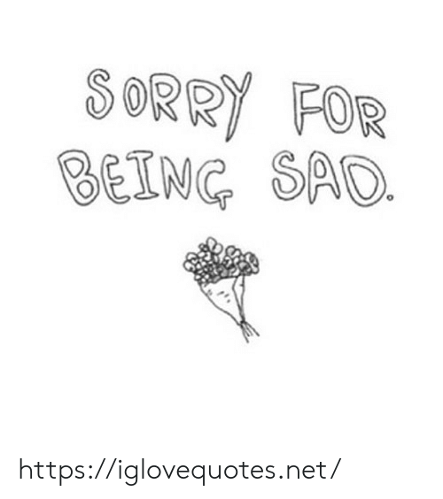 Being Sad: SORRY FOR  BEING SAD https://iglovequotes.net/