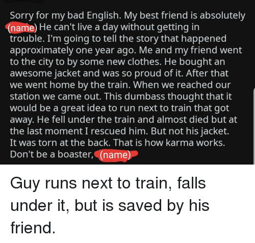 Sorry for My Bad English My Best Friend Is Absolutely Name