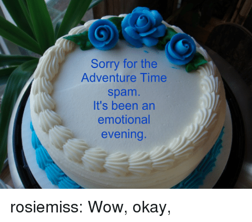 Adventure Time: Sorry for the  Adventure Time  spam  It's been an  emotional  evening rosiemiss:  Wow, okay,