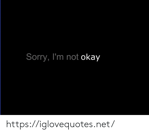 Sorry, Okay, and Net: Sorry, I'm not okay https://iglovequotes.net/