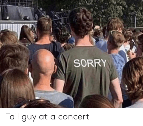 concert: SORRY Tall guy at a concert