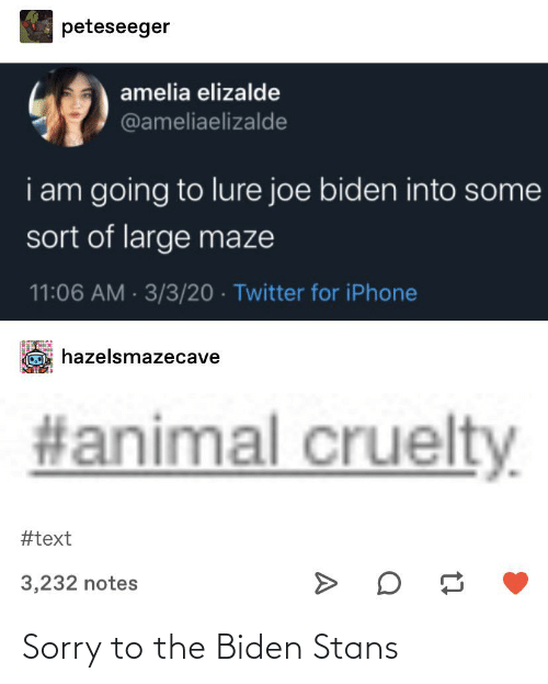 Stans: Sorry to the Biden Stans
