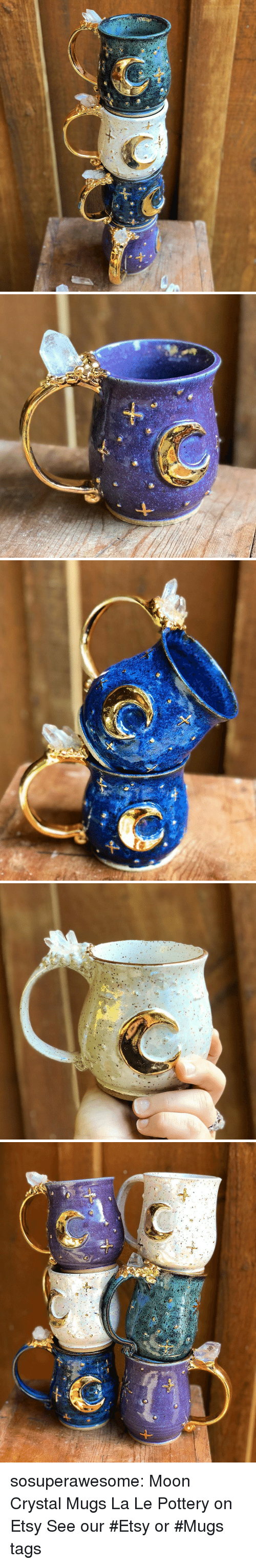 mugs: sosuperawesome: Moon Crystal Mugs La Le Pottery on Etsy See our #Etsy or #Mugs tags