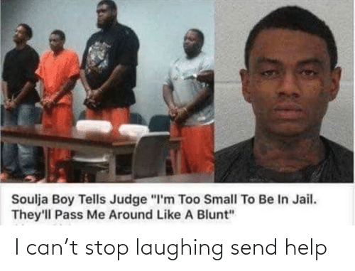 "Like A: Soulja Boy Tells Judge ""I'm Too Small To Be In Jail.  They'll Pass Me Around Like A Blunt"" I can't stop laughing send help"