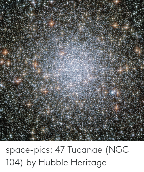 hubble: space-pics:  47 Tucanae (NGC 104) by Hubble Heritage