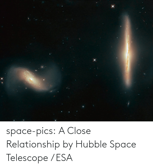 pics: space-pics:  A Close Relationship by Hubble Space Telescope / ESA