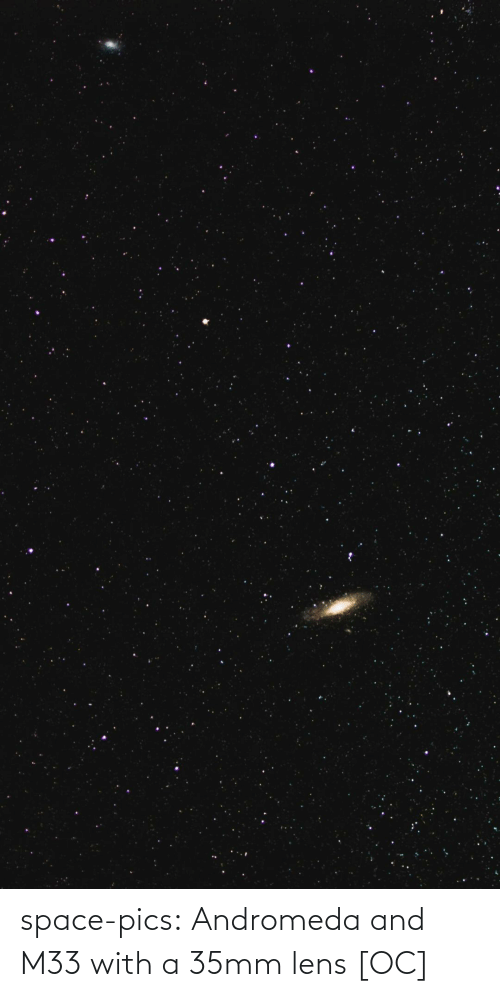 andromeda: space-pics:  Andromeda and M33 with a 35mm lens [OC]