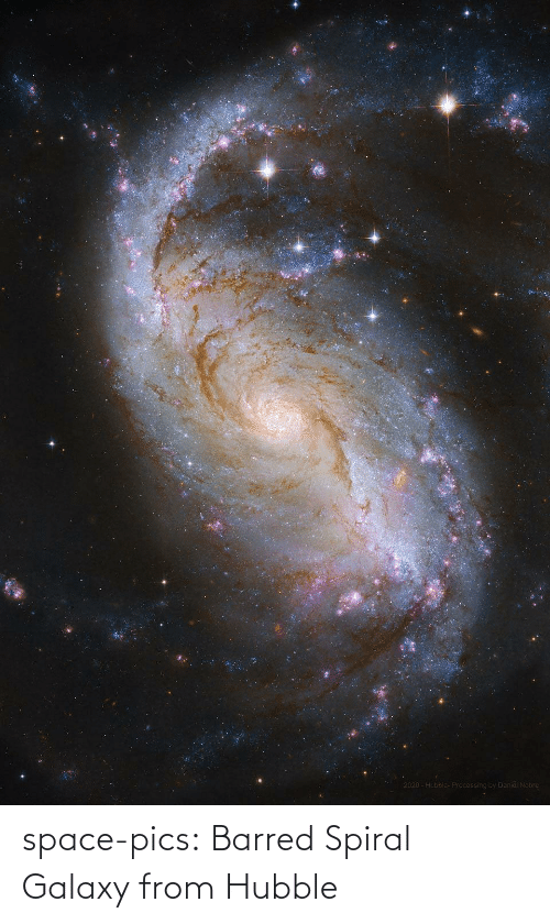hubble: space-pics:  Barred Spiral Galaxy from Hubble
