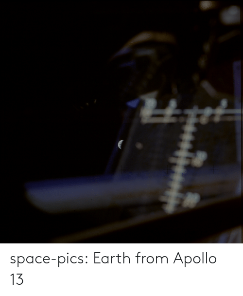 Space: space-pics:  Earth from Apollo 13