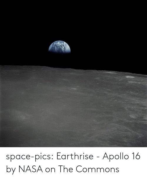 NASA: space-pics:  Earthrise - Apollo 16 by NASA on The Commons
