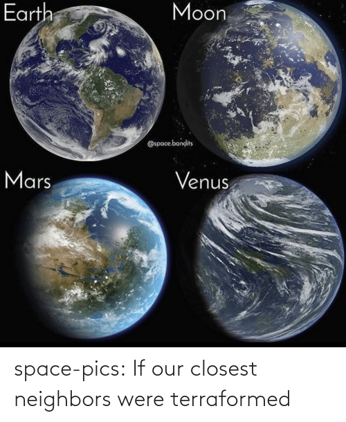Space: space-pics:  If our closest neighbors were terraformed