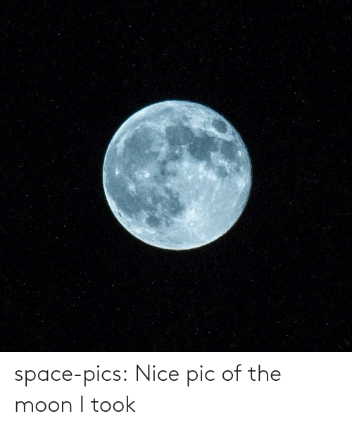 the moon: space-pics:  Nice pic of the moon I took