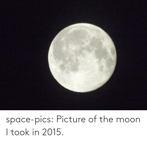 the moon: space-pics:  Picture of the moon I took in 2015.