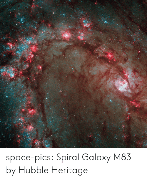 pics: space-pics:  Spiral Galaxy M83 by Hubble Heritage