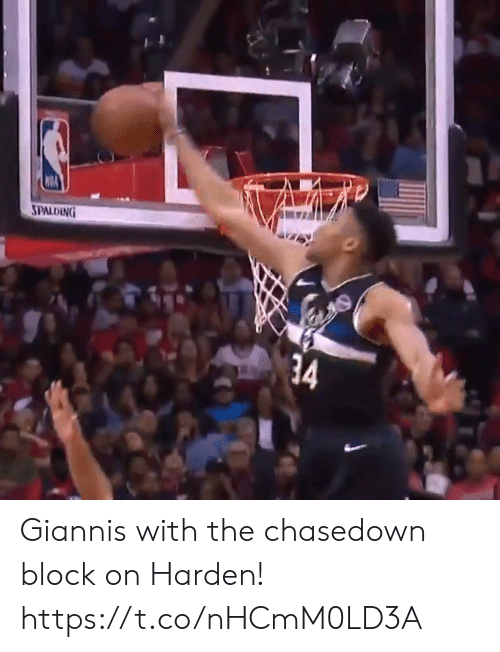 harden: SPALDING  34 Giannis with the chasedown block on Harden! https://t.co/nHCmM0LD3A