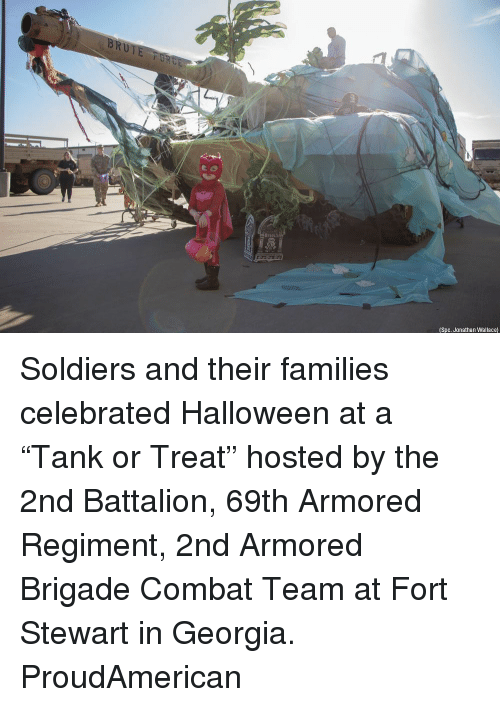 "battalion: (Spc. Jonathan Wallace) Soldiers and their families celebrated Halloween at a ""Tank or Treat"" hosted by the 2nd Battalion, 69th Armored Regiment, 2nd Armored Brigade Combat Team at Fort Stewart in Georgia. ProudAmerican"