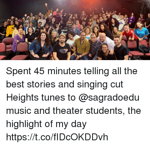 tunes: Spent 45 minutes telling all the best stories and singing cut Heights tunes to @sagradoedu music and theater students, the highlight of my day https://t.co/fIDcOKDDvh
