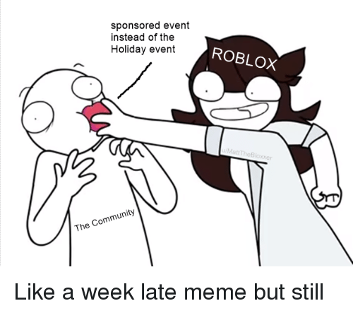 Sponsored Event Instead of the Holiday Event ROBLOX the