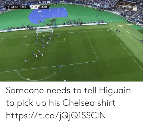 higuain: Sport  31:55  CHL Someone needs to tell Higuain to pick up his Chelsea shirt https://t.co/jQjQ1SSClN