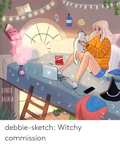 Tumblr, Blog, and Book: SPosLs  FOR  POTION  BOOK  POKI  DEBBIE  SPELS  FOR  BALBOA  s-e debbie-sketch:  Witchy commission