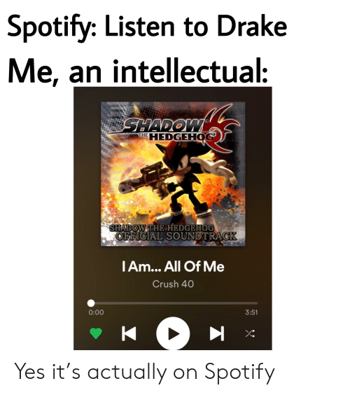 Spotify Listen to Drake Me an Intellectual THE HEDGEHOG