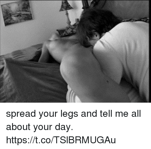 Spread Your Legs And Tell Me All About Your Day Https T