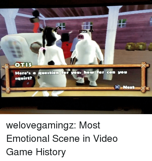 Squirt, Tumblr, and Blog: squirt? welovegamingz:  Most Emotional Scene in Video Game History