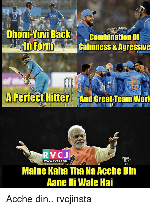 agressive: *Star  MLN  Dhoni-Yuvi Back  Combination of  In Form  Calmness & Agressive  A Perfect Hitter And Great,Team Wort  RVCJ  WWW, RVCJ COM  Maine Kaha Tha Na Acche Din  Aane Hi Wale Hai Acche din.. rvcjinsta