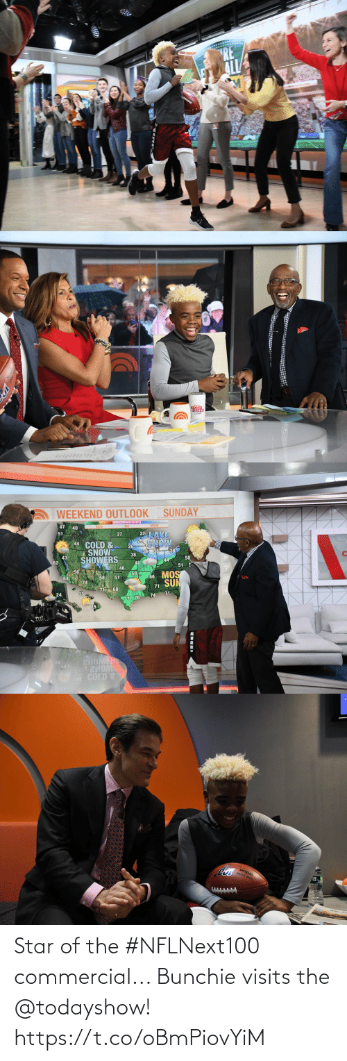 commercial: Star of the #NFLNext100 commercial... Bunchie visits the @todayshow! https://t.co/oBmPiovYiM