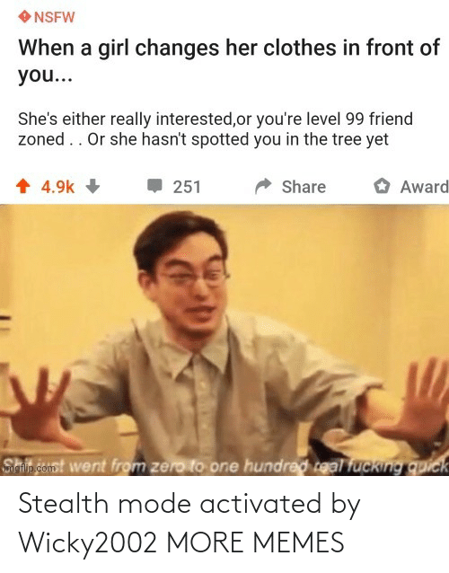 stealth: Stealth mode activated by Wicky2002 MORE MEMES