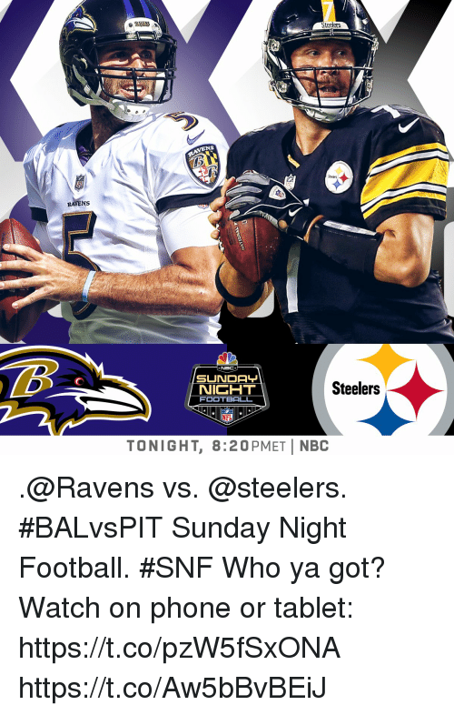 Steelers Vens Ravens Nbc Sunda Nicht Football Steelers Nfl Tonight