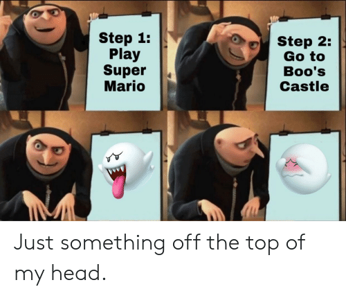 castle: Step 1:  Play  Super  Mario  Step 2:  Go to  Boo's  Castle Just something off the top of my head.