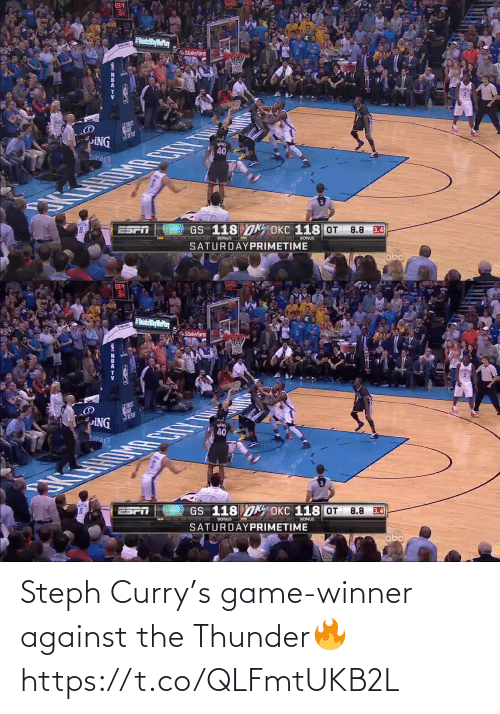 curry: Steph Curry's game-winner against the Thunder🔥 https://t.co/QLFmtUKB2L