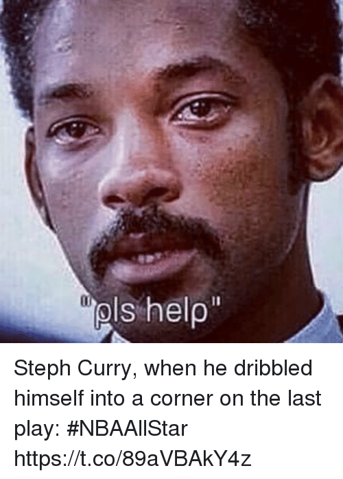 Sports, Steph Curry, and Curry: Steph Curry, when he dribbled himself into a corner on the last play: #NBAAllStar https://t.co/89aVBAkY4z